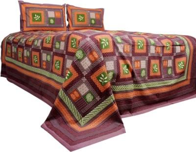 Rama Cotton Checkered Double Bedsheet