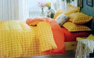 Spade Polyester Checkered Double Bedsheet