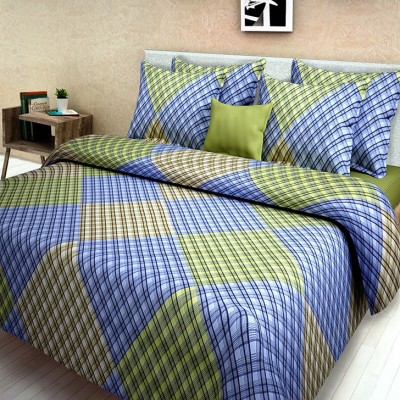 First Row Cotton Geometric King sized Double Bedsheet