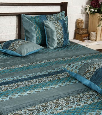 Unravel India Cotton Printed Single Bedsheet