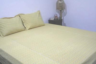 RaghurajLifestyle Cotton Floral Double Bedsheet