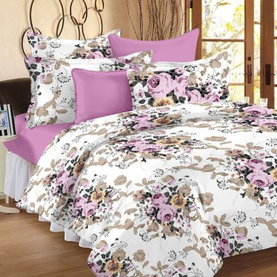 Ahmedabad Cotton Cotton Geometric Double Bedsheet