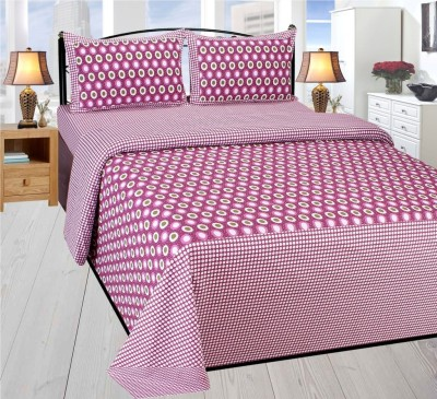 Super India Cotton Polka Double Bedsheet