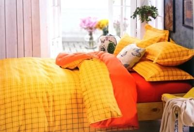 rangoli overseas Cotton Abstract Double Bedsheet