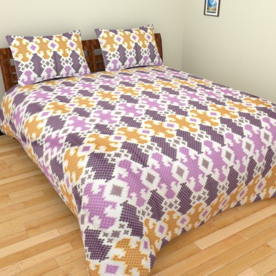 Nirmal Home Furnishing Satin Checkered Double Bedsheet