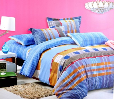 Hashcart Cotton Abstract Double Bedsheet
