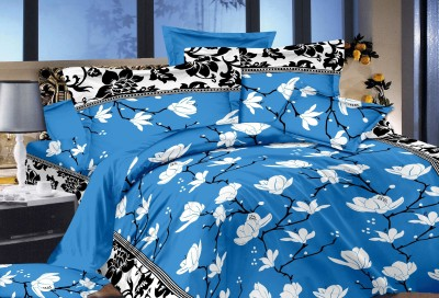 Glory Creations Cotton Floral Queen sized Double Bedsheet