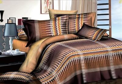 Kalash Chiaro Cotton Abstract Queen sized Double Bedsheet