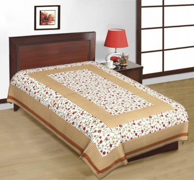 Prateek Retail Cotton Printed Single Bedsheet