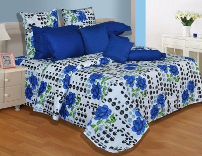 Shine Fabrics Polycotton Abstract Queen sized Double Bedsheet