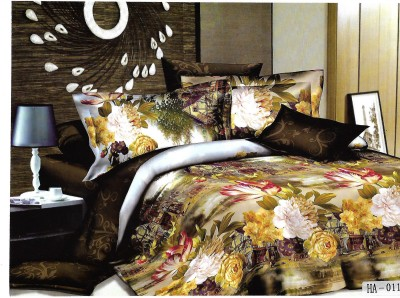 Sudesh Handloom Cotton Printed Queen sized Double Bedsheet