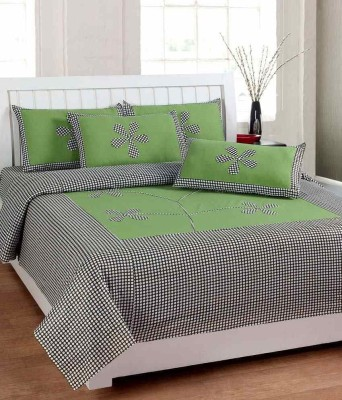 Home Gold Cotton Floral Double Bedsheet