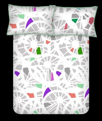 Bombay Dyeing Cotton Abstract King sized Double Bedsheet