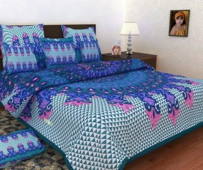Mashhoorindia Cotton Printed Double Bedsheet