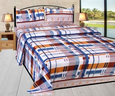 HSR Collection Cotton 3D Printed Double Bedsheet