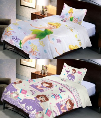Uber Urban Polyester Cartoon Single Bedsheet