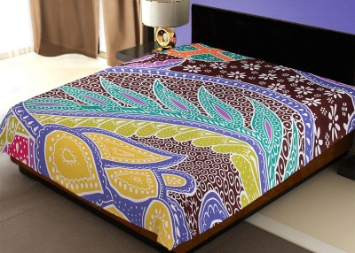 Rawaaz Cotton Abstract Double Bedsheet