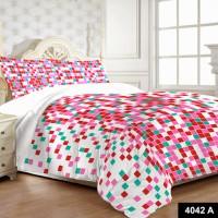 MYCK Cotton Floral Queen sized Double Bedsheet(1 Bedsheet, 2 Pillow Covers, Multicolor)