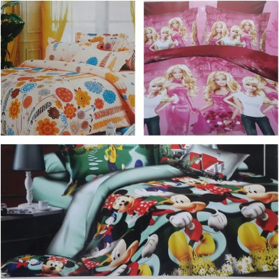 Life Like Cotton Cartoon Double Bedsheet