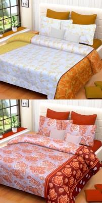 Brand Decor Cotton Printed Double Bedsheet