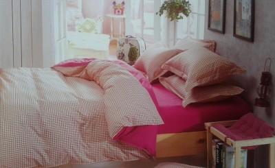 Spade Cotton Checkered Double Bedsheet