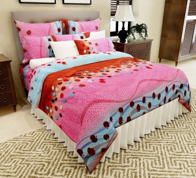 Amethyst Polycotton Printed Double Bedsheet