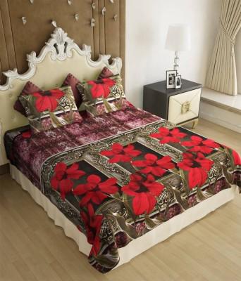 Decor Vatika Polycotton Floral Double Bedsheet