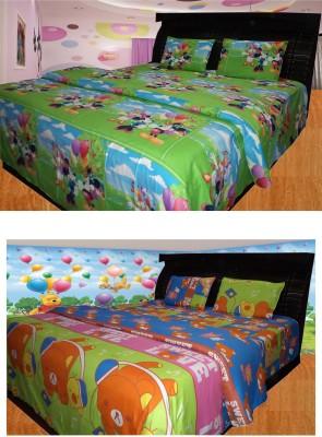 Riyasat Cotton Printed King sized Double Bedsheet