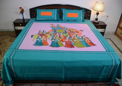 Culture Rajasthan Cotton Printed King sized Double Bedsheet