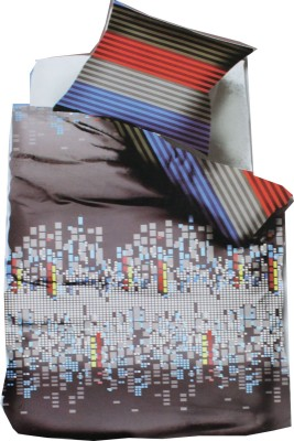 ROSS Cotton Silk Blend Abstract King sized Double Bedsheet