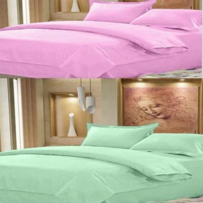 Creativehomes Cotton Plain Double Bedsheet