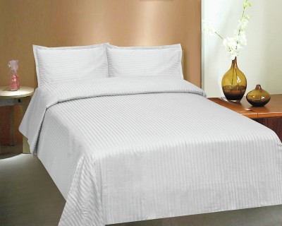 Ctm Textile Mills Polycotton Striped Double Bedsheet
