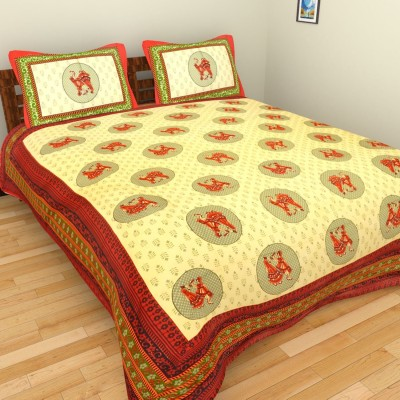 The Handicraft House Cotton Abstract Double Bedsheet