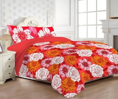 MYCK Cotton Floral Double Bedsheet