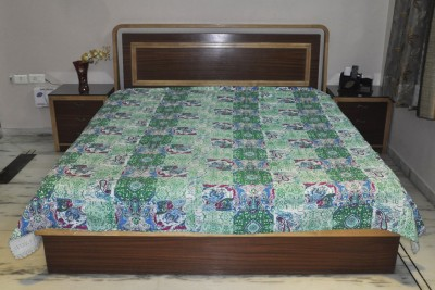 Lal Haveli Cotton Checkered Double Bedsheet