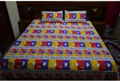 Balaji Handloom Cotton Checkered Double Bedsheet