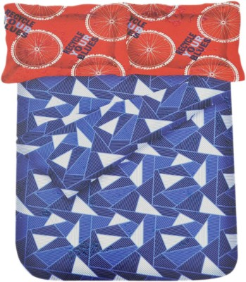Bombino Cotton Abstract Queen sized Double Bedsheet