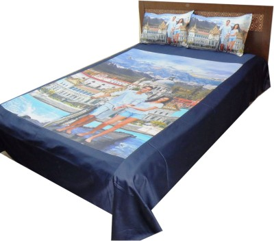 The perfect comfort Cotton 3D Printed Double Bedsheet