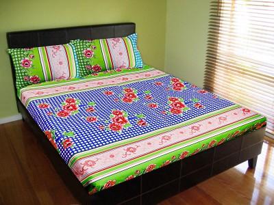 Vibrant Homze Polycotton Polka Double Bedsheet