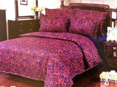 Night Gold Polycotton Printed Double Bedsheet