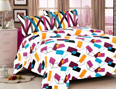 Classic Furnishing Plus Cotton Geometric Double Bedsheet