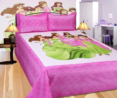 SHRIJI TRADERS Cotton Cartoon King sized Double Bedsheet