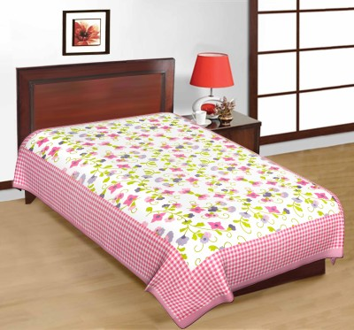 Artisan Creation Cotton Floral Single Bedsheet