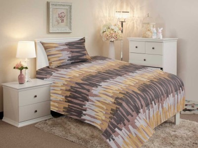 Salona Bichona Cotton Striped Single Bedsheet
