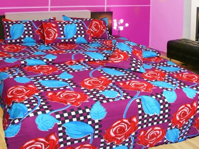 Angel Homes Cotton Floral Double Bedsheet
