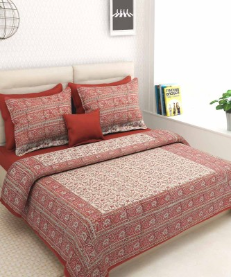 VarEesha Cotton Paisley Double Bedsheet