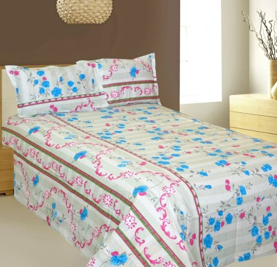 AJ Home Satin Floral King sized Double Bedsheet