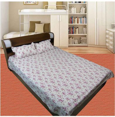 Thefancymart Cotton Floral King sized Double Bedsheet