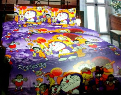 GLOW Cotton Cartoon Queen sized Double Bedsheet