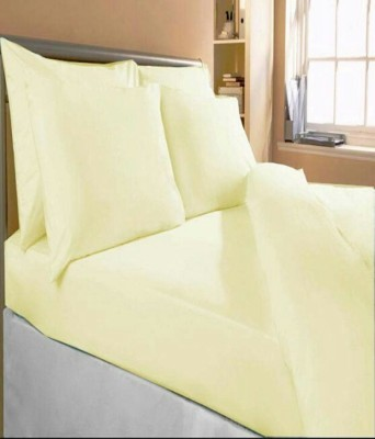 Shopgalor Cotton Plain Double Bedsheet